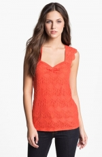 Ella Moss Scalloped lace top at Nordstrom