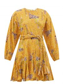 Ella safari-print cotton-voile mini dress at Matches