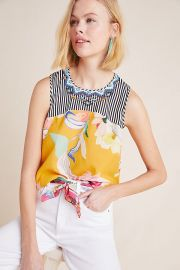 Elle Embroidered Top at Anthropologie