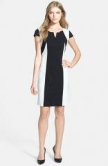Ellen Tracy Colorblock Ponte Sheath Dress at Nordstrom