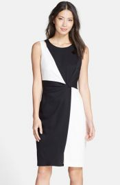 Ellen Tracy Colorblock Sheath Dress at Nordstrom