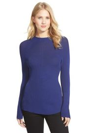 Ellen Tracy Two-Tone Rib Knit Pullover at Nordstrom