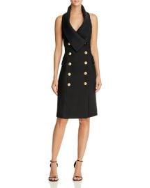 Elliatt Breakthrough Double Breasted Halter Dress Blackx at Bloomingdales