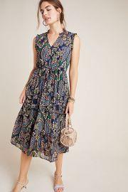 Elmira Ruffled Midi Dress at Anthropologie
