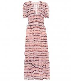 Elodie printed silk midi dress at Mytheresa
