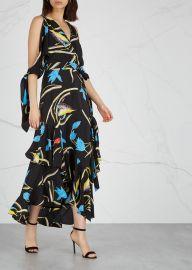 Eloise floral-print silk midi dress at Harvey Nichols