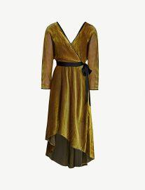 Eloise velvet midi wrap dress at Selfridges