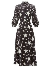 Emanuelle star-print silk-crepe dress at Matches