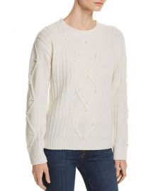 Embellished Aran-Knit Cashmere Sweater at Bloomingdales