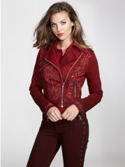 Embellished Biker Jacket at Guess