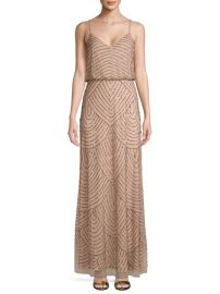 Embellished Blouson Long Dress by Adrianna Papell at Saks Off 5th