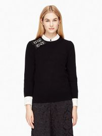 Embellished Bow Sweater at Kate Spade