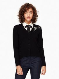 Embellished Brooch Cardigan at Kate Spade