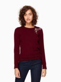 Embellished Brooch Sweater at Kate Spade