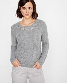 Embellished Cashmere Like Sweater at RW&CO