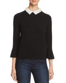Embellished Collar Sweater at Bloomingdales