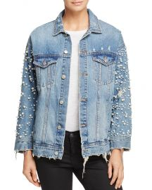 Embellished Denim Jacket at Bloomingdales