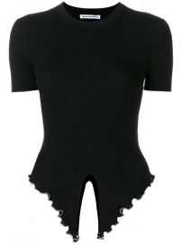 Embellished Knitted T-shirt by Alexander Wang at The Talk