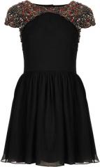 Embellished Shoulder Dress at Topshop