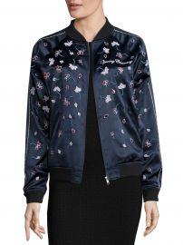 Embellished Silk Varsity Jacket at Saks Off 5th