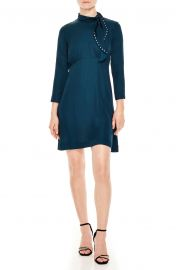 Embellished Tie Neck Dress at Nordstrom