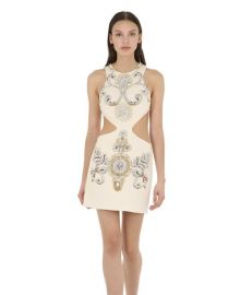Embellished Wool Crepe Dress with Cut Outs by Fausto Puglisi at Luisaviaroma