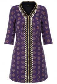 Embellished Zip Front Jacquard Mini Dress by La Perla at La Perla