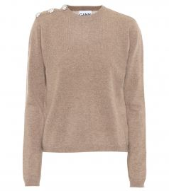Embellished cashmere sweater at Mytheresa