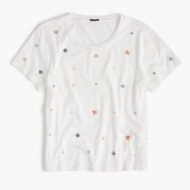 Embellished floral T-shirt at J. Crew