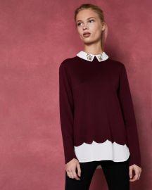 Embellished mockable sweater at Ted Baker
