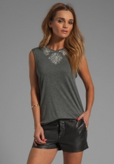 Embellished muscle tee by Haute Hippie at Revolve