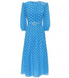 Embellished polka-dot silk dress at Mytheresa