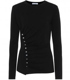 Embellished top at Mytheresa