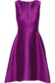 Embossed satin-twill dress at The Outnet