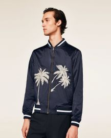 Embroidered Bomber Jacket by Zara at Zara