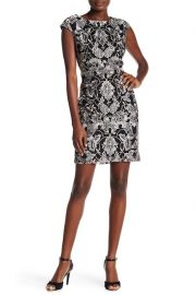 Embroidered Cap Sleeve Dress by Donna Ricco at Nordstrom Rack