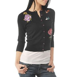 Embroidered Cardigan at Lucky Brand
