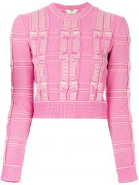Embroidered Cropped Sweater by Fendi at Farfetch