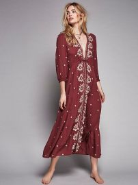 Embroidered Fable Dress at Free People