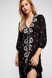 Embroidered Fable Midi Dress at Free People