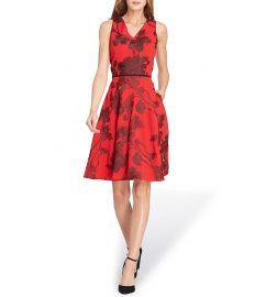 Embroidered Fit And Flare Dress by Tahari ASL at Dillards