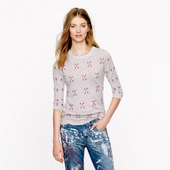 Embroidered Flowers Tippi Sweater at J. Crew