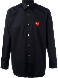 Embroidered Heart Shirt by Comme Des Garcons Play at Farfetch