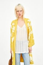 Embroidered Kimono by Zara at Zara