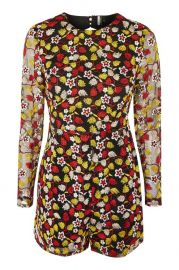 Embroidered Open Back Playsuit - Sale at Topshop