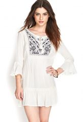 Embroidered Peasant Dress at Forever 21