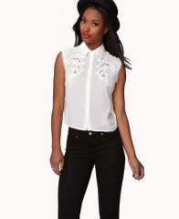 Embroidered Sleeveless Shirt at Forever 21