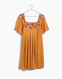 Embroidered Square-Neck Mini Dress at Madewell