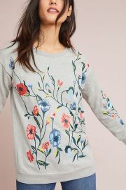 Embroidered Sweatshirt by Sundry at Anthropologie