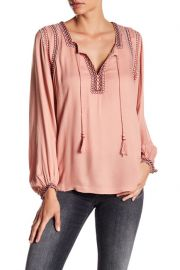 Embroidered Tassel Blouse by Lucky Brand at Nordstrom Rack